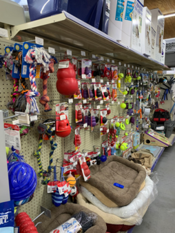 Remington Feed dog beds, dog toys and feeders are all in the Dog Toy aisle.