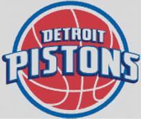 Detroit Pistons Cross Stitch Chart Pattern
