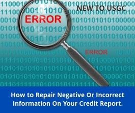 How To Repair Credit Report Errors
