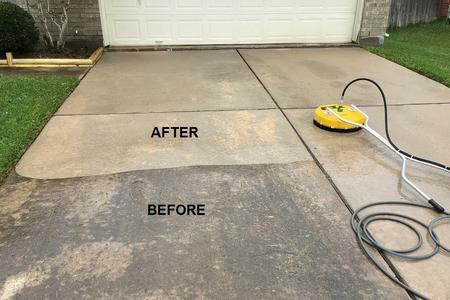 driveway pressure washing Houston Texas
