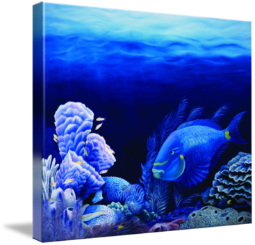Lighthouse Reef - oil painting by Savanna Redman - shown as a stretched canvas Giclee