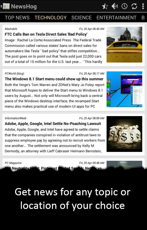 NewsHog (Google News and Weather)