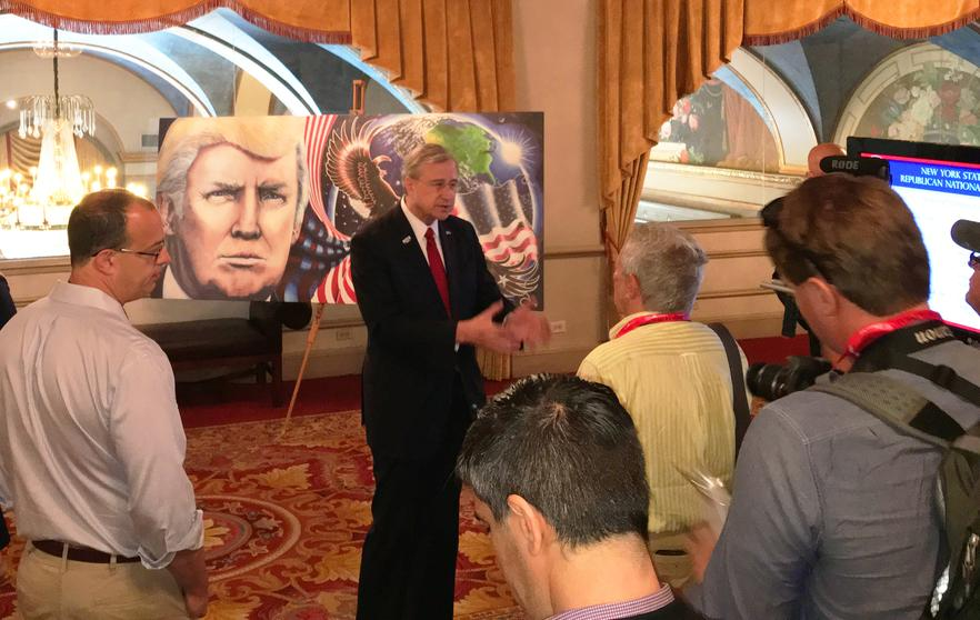 New York GOP Chairman The Trump Painting Trump Portrait Cleveland RNC