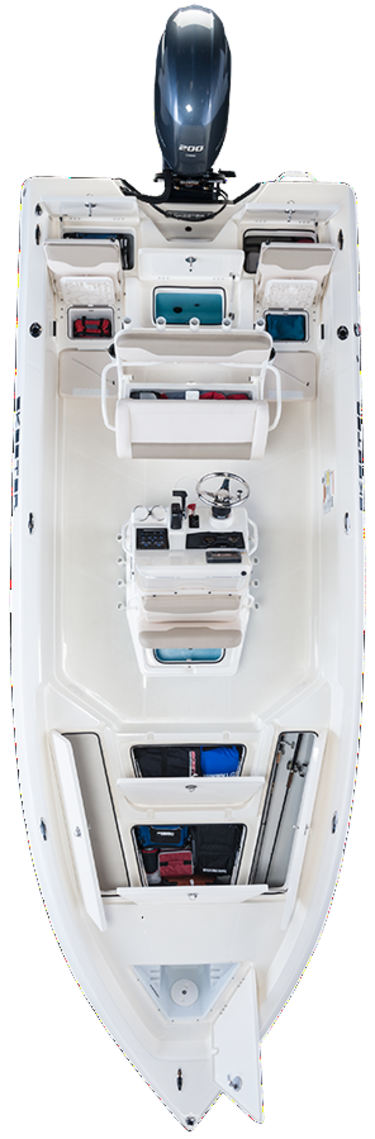 skeeter 2250 bay boat overhead image example of Kyle mitternight guide fishing boat