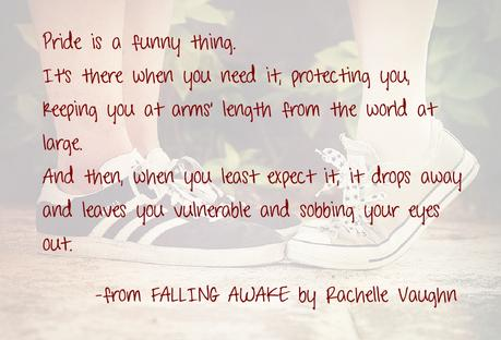 Falling Awake by Rachelle Vaughn pride teen romance book quote