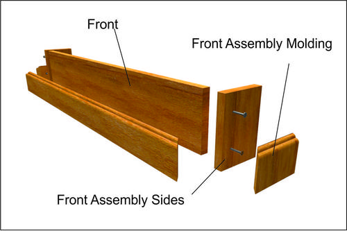 DIY Secret Compartment Floating Shelf. Images shows front assembly. www.DIYeasycrafts.com