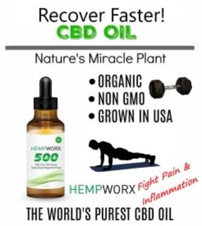 Hempworx CBD Oil for workout recovery