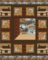Wild Pheasants Log Cabin pattern