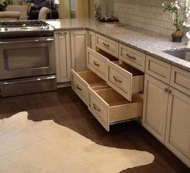 Custom white kitchen cabinets