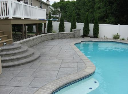 Stamped Deck Swimming Pools Katy Texas
