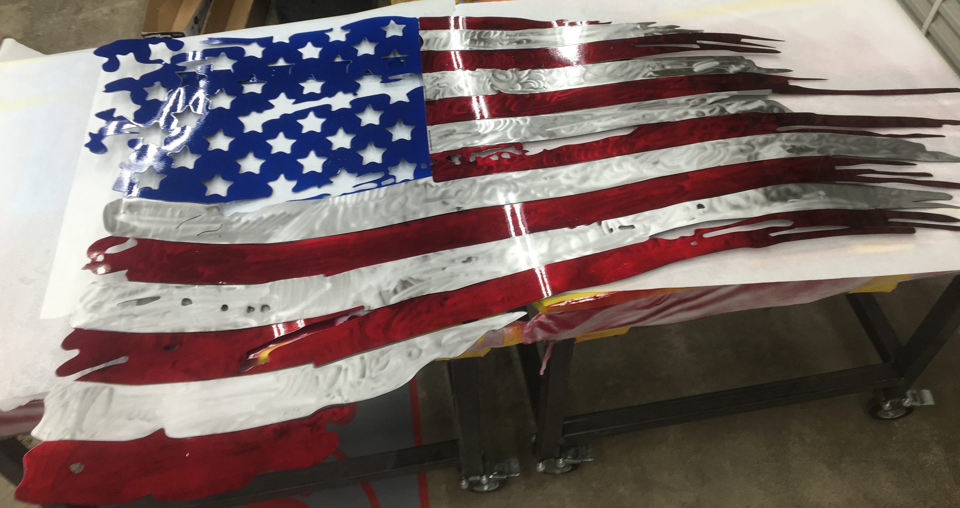 Battle Worn American Flag