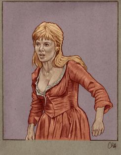 SHANI WALLIS as Nancy in OLIVER! Drawing by CLIFF CARSON