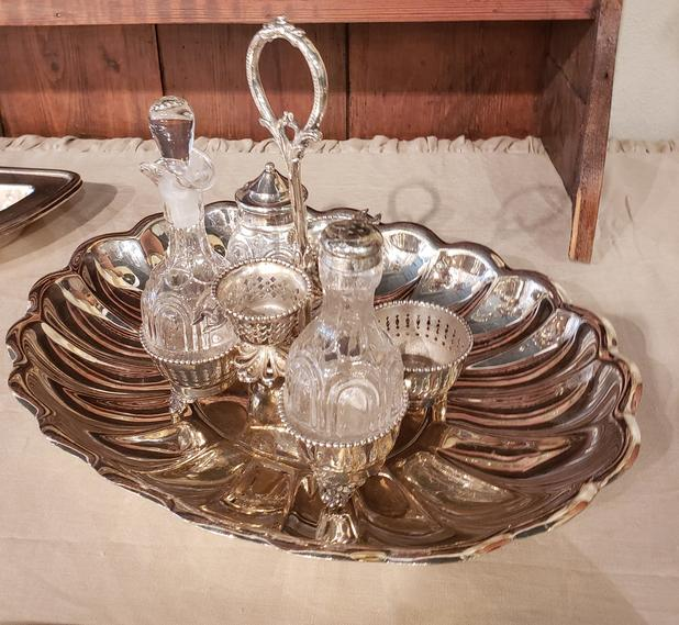 sterling silver plated service set
