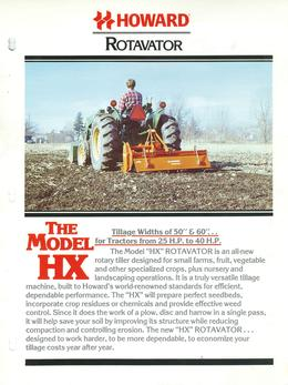Howard Rotavator Model HX Brochure