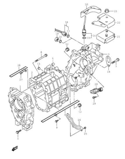 Transfer Case Suzuki Sidekick, CHEVY Geo Tracker, Vitara