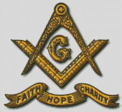 Cross Stitch Chart Pattern of Freemasons Antique Faith Hope Charity
