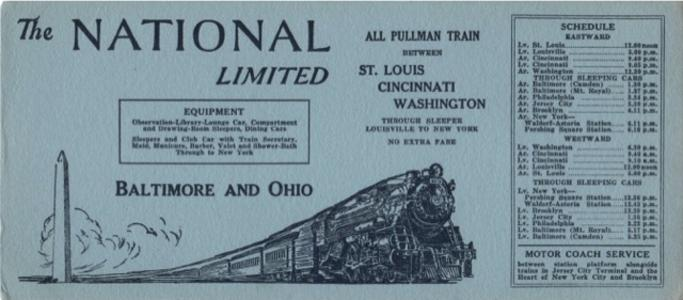 National Limited ink blotter ad circa 1928.