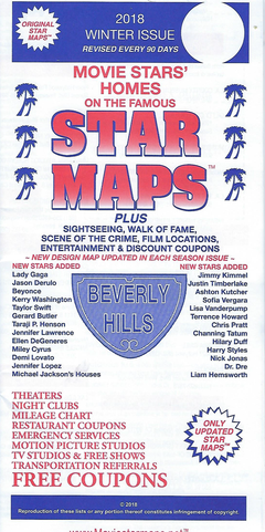 Star Map By Date And Location.Movie Star Maps Famous Hollywood Locations