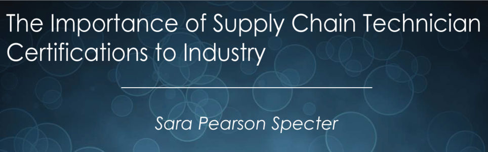 White Papers | The Importance of Supply Chain Technician ...