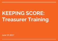 2017 Spring Treasurer Training