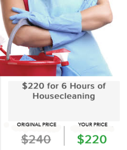 $220 for 6 Hours of Housecleaning