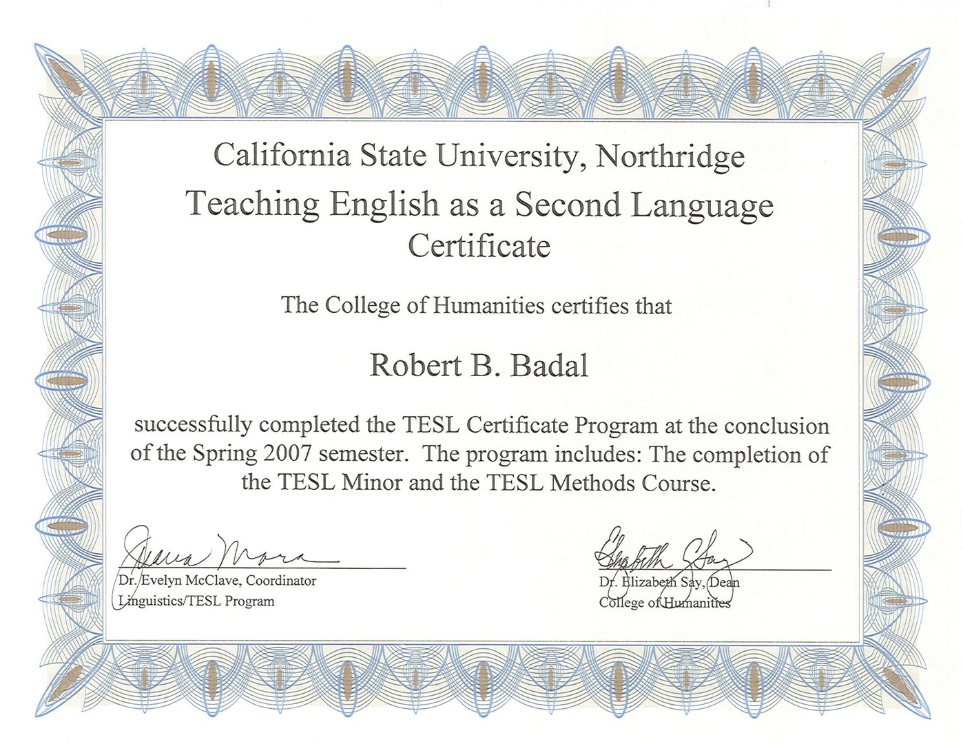 Robert badals qualifications ba lao shi perfect english 1betcityfo Gallery