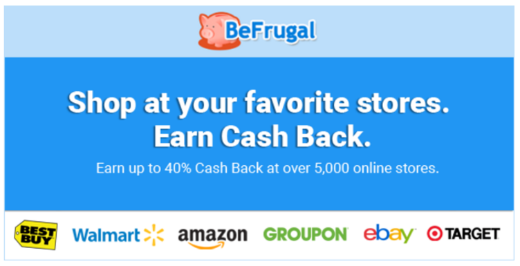 BeFrugal Earn Cash Back
