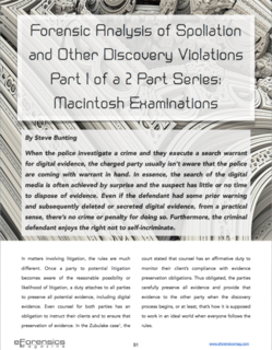 Spoliation Expert Steve Bunting Macintosh eForensicsMag Discovery