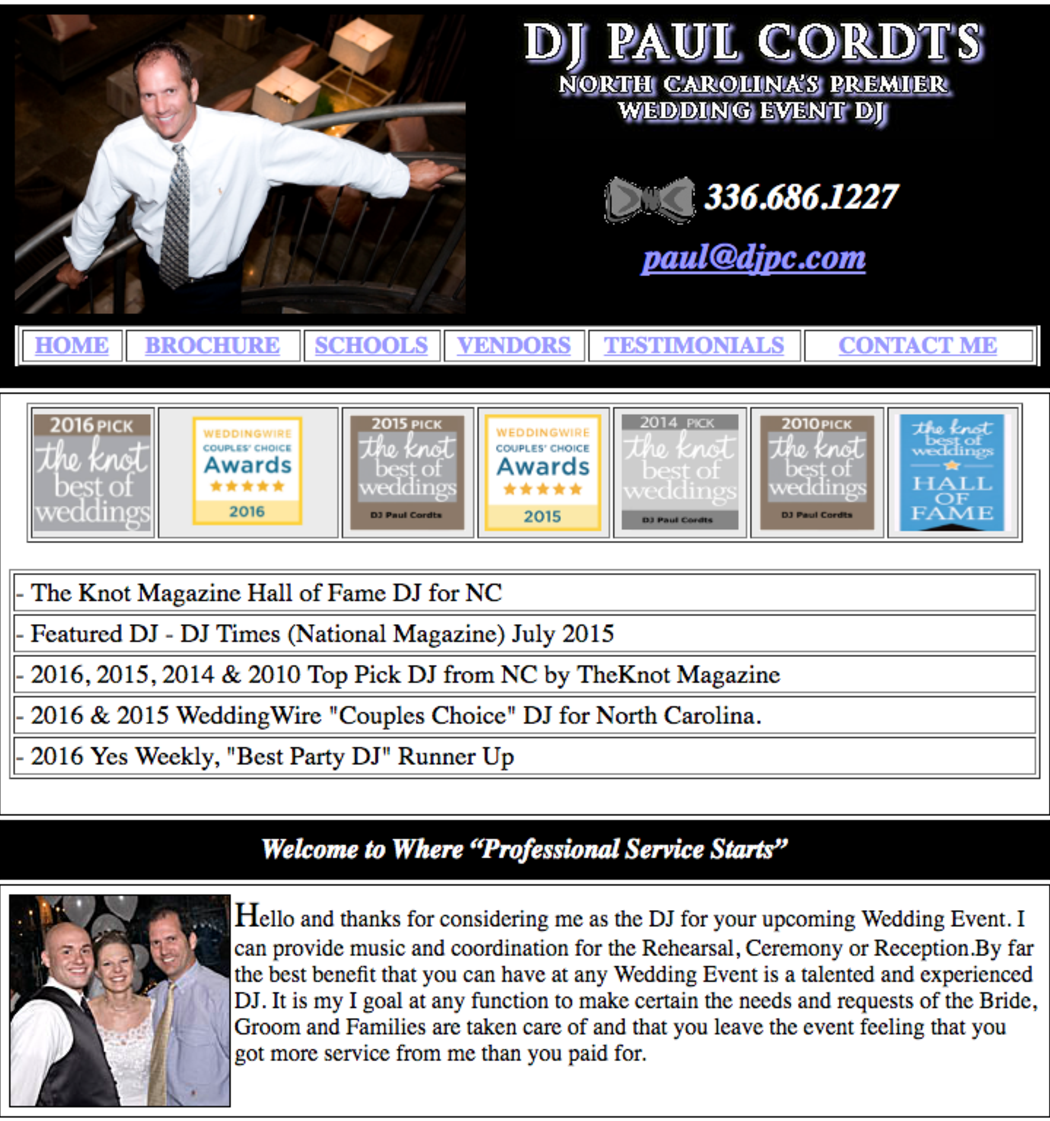 DJ Paul Cordts ~ Preferred Vendor Castle McCulloch