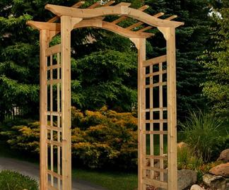 Arbor covering a walkway