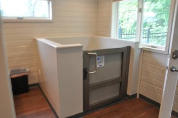 Patient lift to surgical and radiography suites at Cincinnati Hills Animal Clinic Montgomery Road location