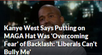 Kanye West Says Putting on MAGA Hat Was 'Overcoming Fear' of Backlash: 'Liberals Can't Bully Me' donald trump