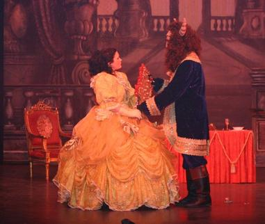 Belle (Jess Needs) and The Beast (Benedict Hurley)