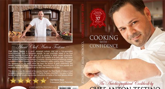 Celebrity Chef Anton Testino cookbook from axtons in pompton lakes nj