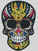 Cross Stitch Chart of Sugar Skull No 28