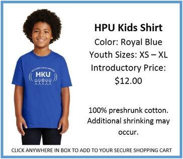 HPU Kids Shirt Royal