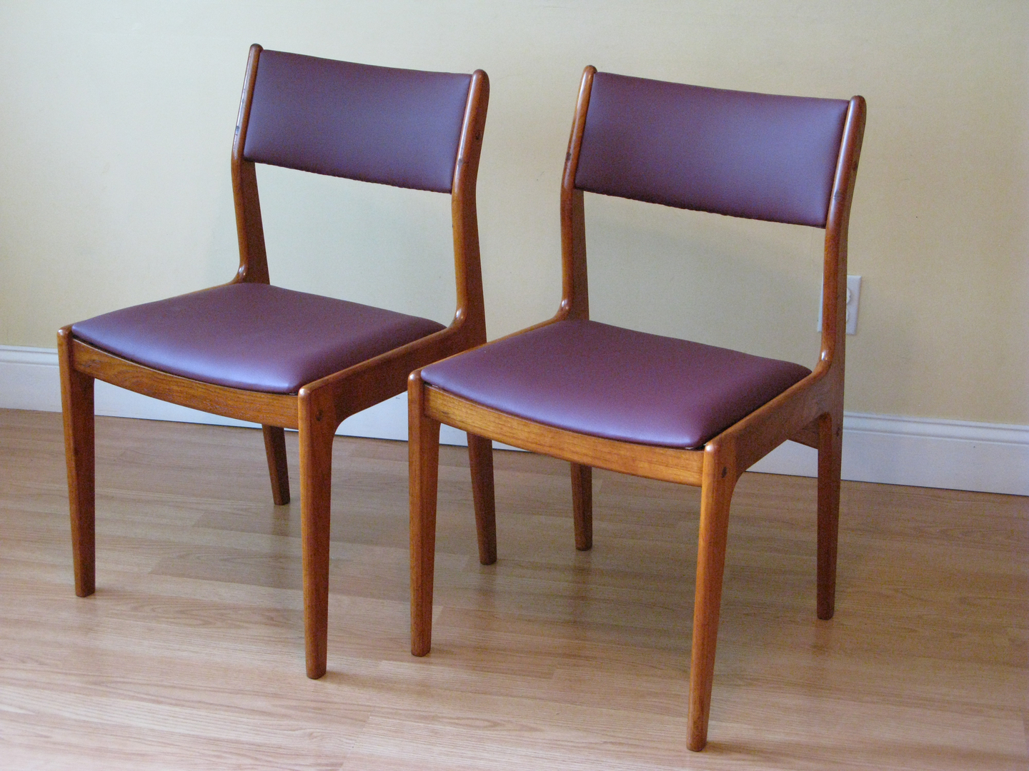 Danish Teak Dining Chairs By D Scan