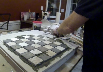 How to make a easy DIY Ceramic Tile Chess or Checkers ...
