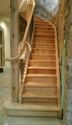 Oak treads and risers, Staircase, custom steps