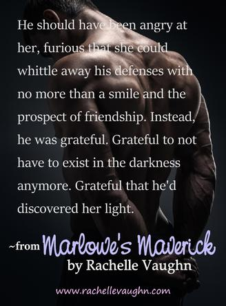 Marlowe's Maverick by Rachelle Vaughn bad boys of hockey trilogy sexy romance boyfriend book quote