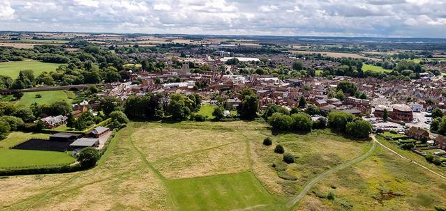 Aerial View of Bury Field, Newport Pagnell