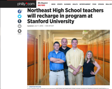 NORTHEAST HIGH SCHOOL RECHARGE IN PROGRAM AT STANFORD UNIVERSITY