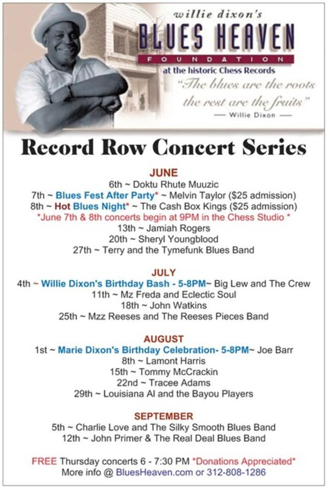 Record Row Concert Series