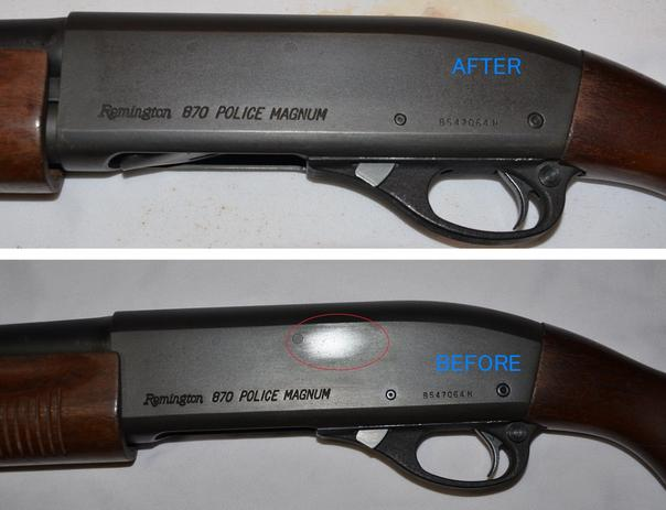 bluing rifle barrel
