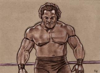 RON SIMMONS drawing by Cliff Carson