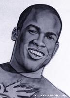 Desmond Hadden Drawing by Cliff Carson