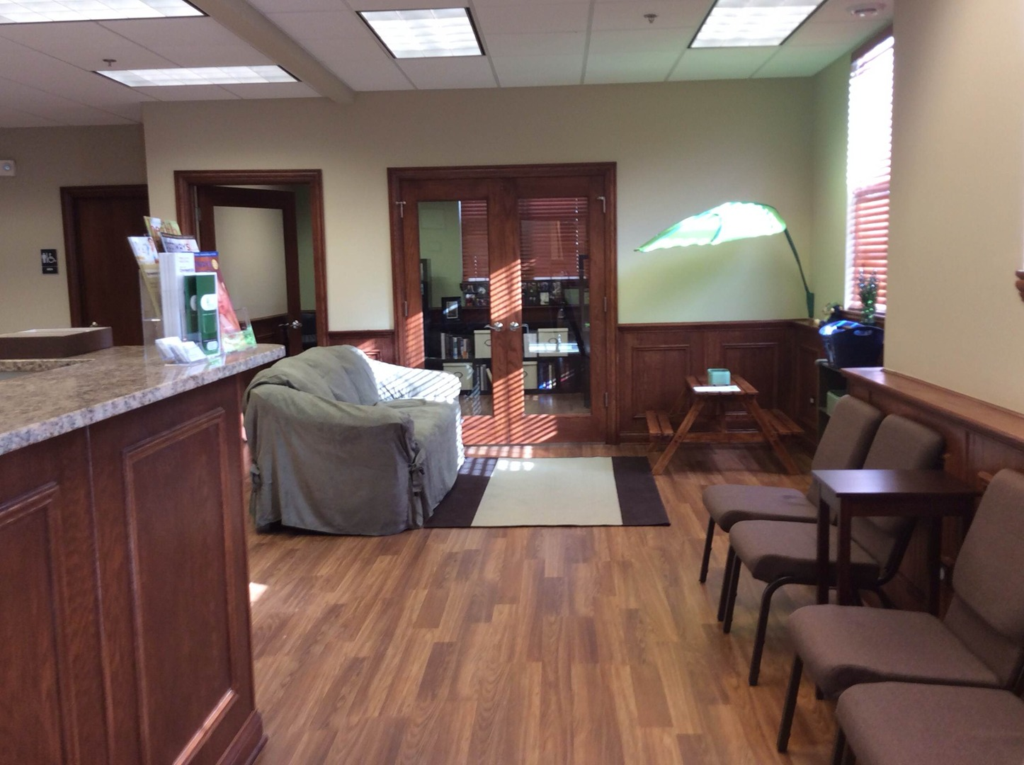 Chiropractic reception area