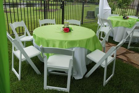 TABLE AND GARDEN CHAIR SET-UP