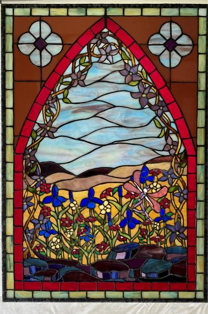 "Stained Glass Window ""The Faerie Garden"" by Randall Soileau"