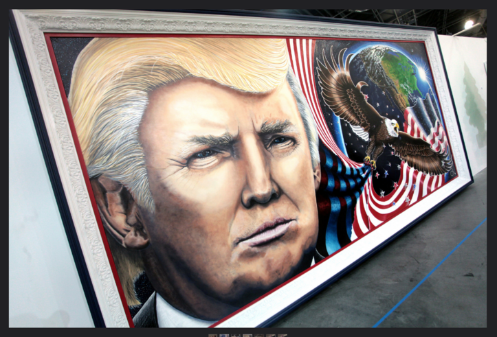 Trump Painting 'Unafraid And Unashamed' By Julian Raven